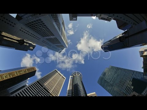 Banks And Commercial Buildings In Singapore, Asia. Stock Footage
