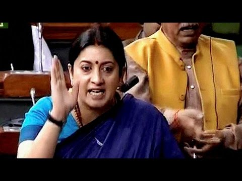 Smriti Irani delivers stormy speech in Lok Sabha on Rohith suicide & JNU