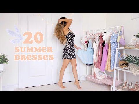 Play this video 20 SUMMER DRESSES super cute   fashion lookbook 2020