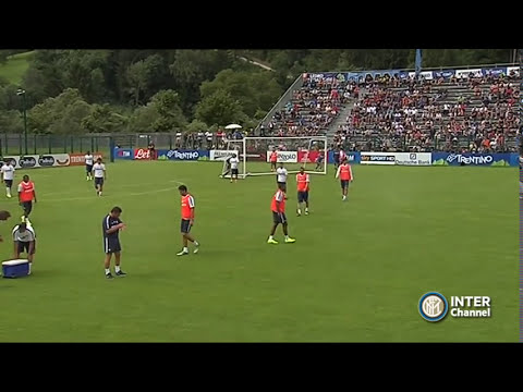PINZOLO 2014 -  ALLENAMENTO INTER REAL AUDIO 12 07 2014