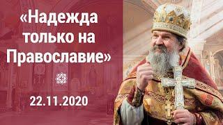 «Надежда только на православие». ПРОПОВЕДЬ 22.11.2020 о. Андрея Лемешонка после воскресной литургии