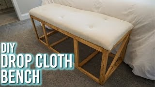DIY Drop Cloth Bench!
