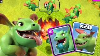 LE BABY DRAGON de Clash Royale sur Clash of Clans ! (Gameplay)