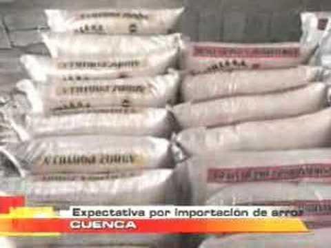 Expectativa por importación de arroz