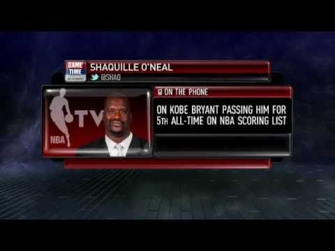 Shaquille O'Neal Reacts To Kobe Surpassing Him For 5th All Time In Scoring