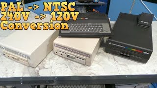 Commodore C116 and drive repair, 240V to 120V conversion
