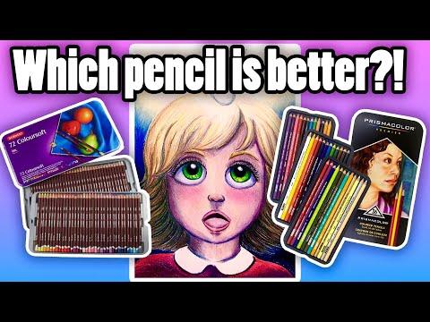 Prismacolor Premier VS Derwent Coloursoft! PENCIL comparison and REVIEW!