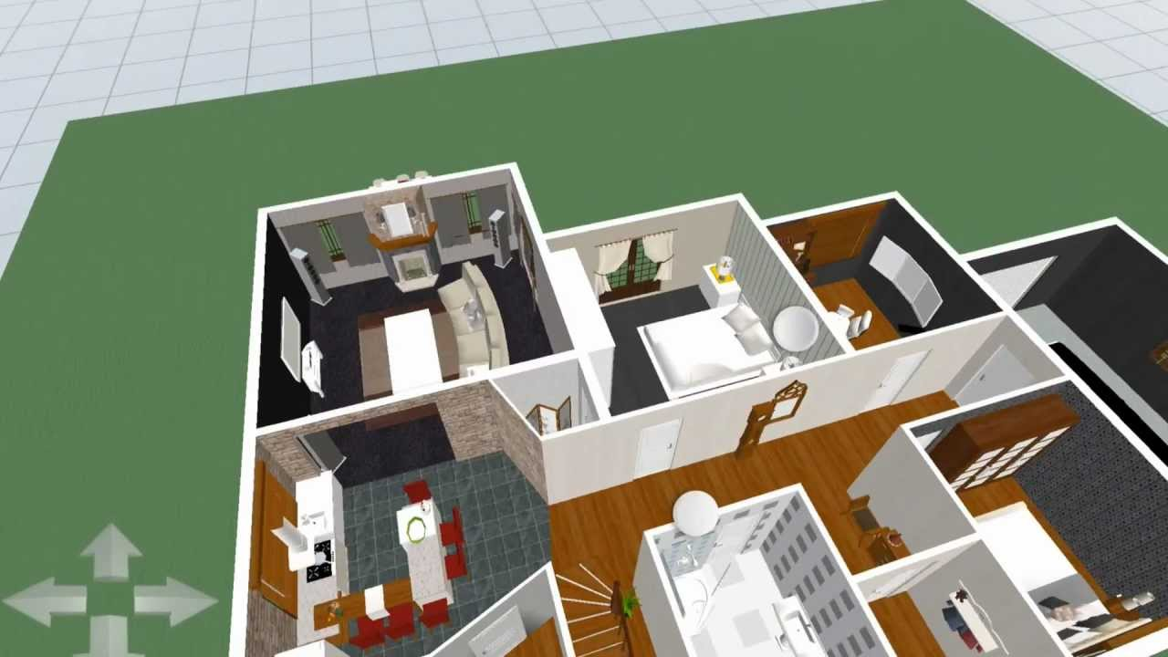 The dream home in 3d home design ipad 3 youtube for Home plans 3d designs