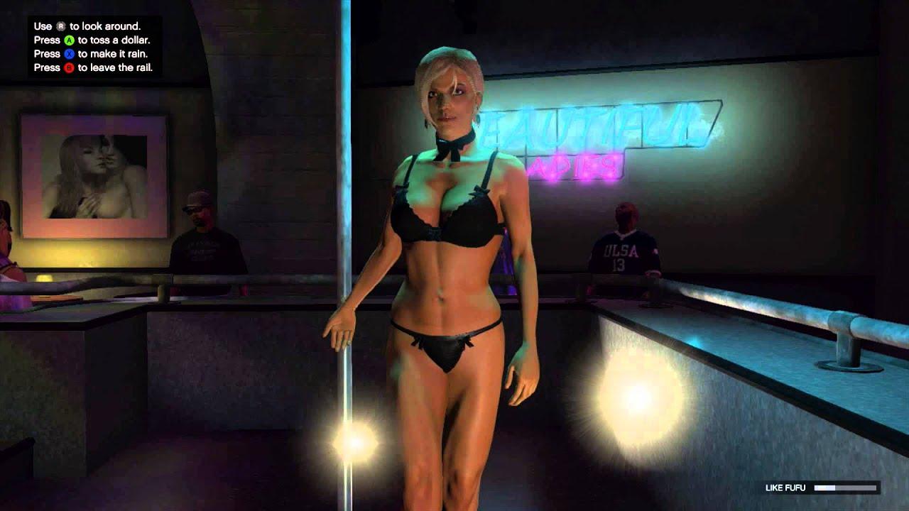 GTA 5 Funny Moments Glitch - Funny Topless Female Glitch