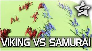 "VIKINGS vs SAMURAI vs KNIGHTS! - ""FOR HONOR in TABS!"" - Totally Accurate Battle Simulator Gameplay"