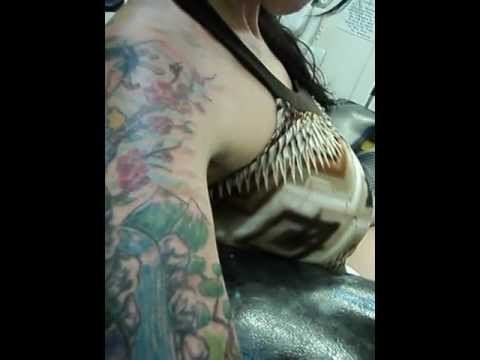 Ink wizard tattoos cover up tattoo gary hall youtube for Solid black tattoo cover up