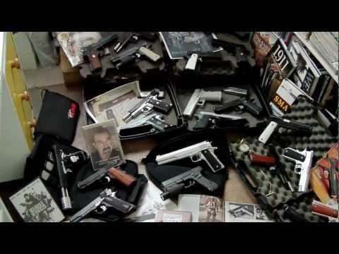 LaZouche Custom airsoft pistol collection summer 2012.