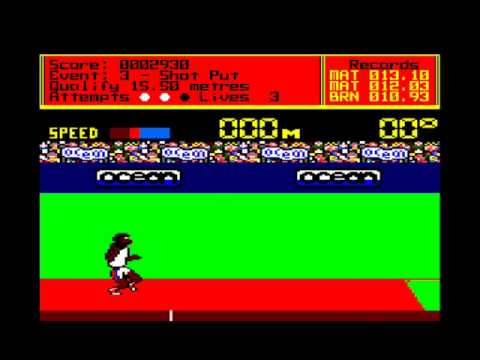 Thumbnail of video Daley Thompson's Decathlon - Amstrad CPC 6128