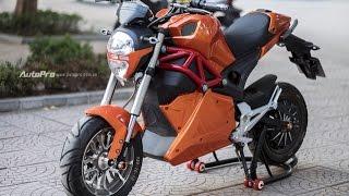 Tin nhanh 24/7 - Cận cảnh xe điện mang kiểu dáng Ducati Monster, giá 25 triệu Đồng tại Hà Nội.