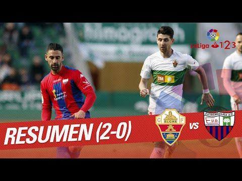 Resumen de Elche CF vs Extremadura UD (2-0)