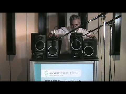 IsoAcoustics AMAZING Studio Monitor Isolation Demo.mp4