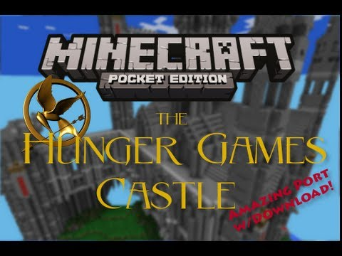 Minecraft Pocket Edition :: Hunger Games Castle Map Review ::