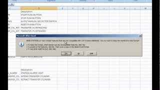 PLC Programming Create a CSV file