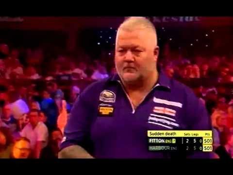 Darryl Fitton celebrating missing Bullseye? - 2016 BDO World Championship