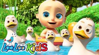 🦆𝐅𝐢𝐯𝐞 𝐋𝐢𝐭𝐭𝐥𝐞 𝐃𝐮𝐜𝐤𝐬 - LooLooKids Nursery Rhymes and Kids Songs
