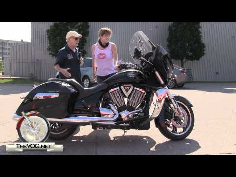Carol Test Rides Four Victory Motorcycles - Vegas 8-Ball. Cross Roads and Two Cross Country's