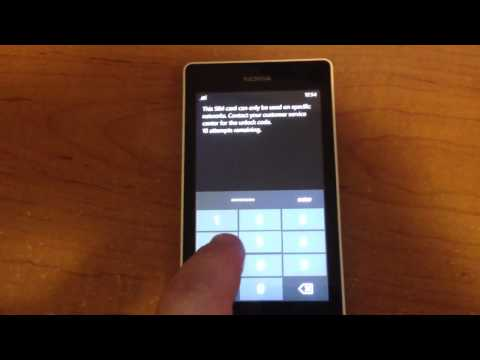 How to Unlock Nokia Lumia 521 from T-mobile by Unlock Code.