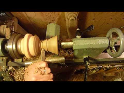 turning wood on a metal lathe