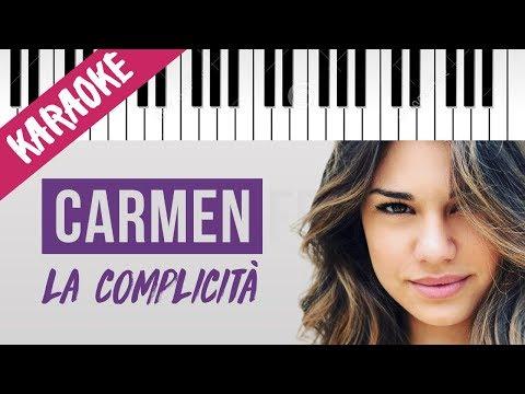 Carmen Ferreri | La Complicità | AMICI 17 // Piano Karaoke con Testo