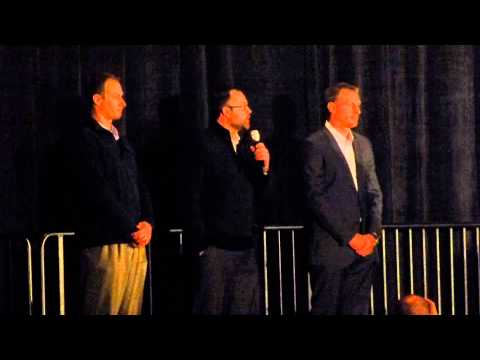 Detroit Tigers players Max Scherzer, Don Kelly, Joba Chamberlain answer questions at winter banquet