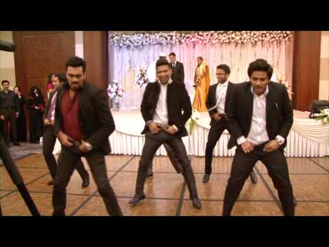 Nabil & Aysha Wedding Reception [pistah Dance Mob] video