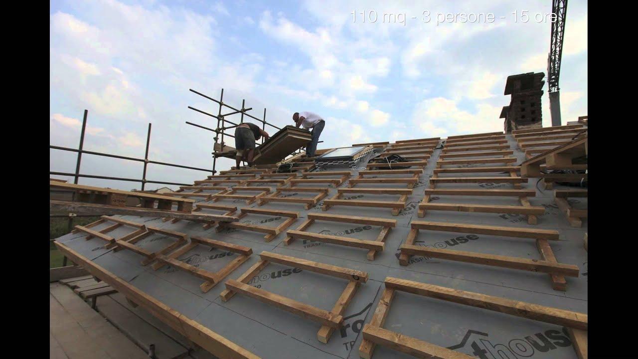 Il tetto in legno vass installazione rapida e sicura for Montaggio tetto in legno ventilato