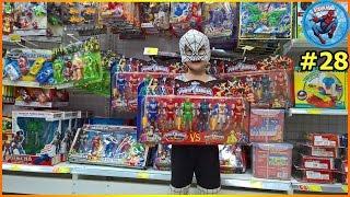 NGƯỜI NHỆN NHÍ đi siêu thị mua đồ chơi siêu nhân ♥ Video Siêu Nhân Người Nhện tập 28