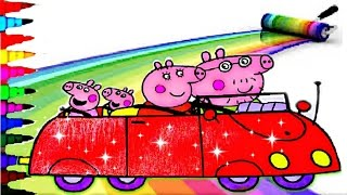 Peppa Pig Car Best Coloring Book Pages Kids Fun Art Learning Videos For Disney Brilliant Kids