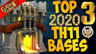 NEW TOP 3 TOWN HALL 11 FARMING/TROPHY BASES 2020! TH11 HYBRID DARK BASE UPDATE! -CLASH OF CLANS(COC)