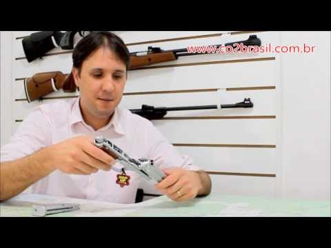 Pistola de Airsoft KWC Beretta M92   SIlver   GBB   6mm