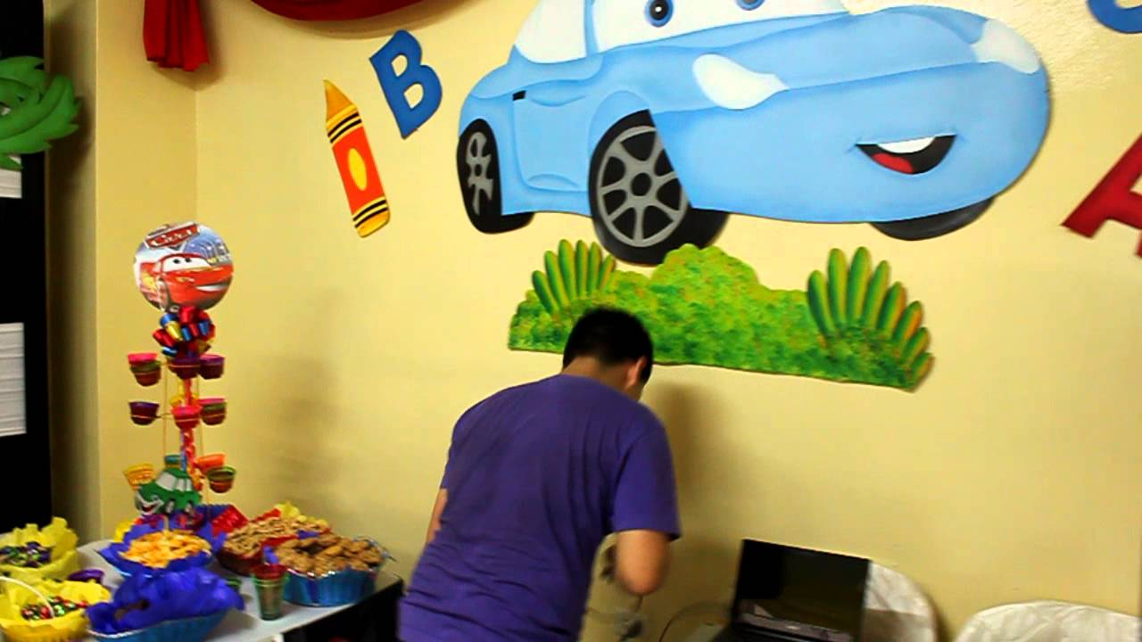 Decoracion cars biberon fiesta show youtube - Decoracion de cars para fiestas infantiles ...