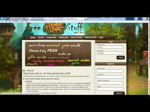 Get Free Animal Jam Gifts Gift Certificates, Gems, Membership accounts
