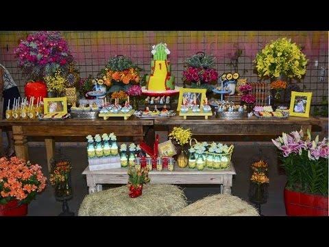 Clique e veja o vídeo Montagem e Decoração de Festas Infantis - Mesa Central