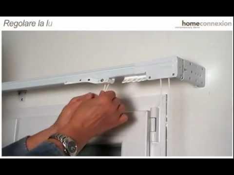 Fissaggio Parete e Soffitto Binario per Tende Steelglyde - YouTube