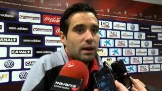 Zona Mixta CA Osasuna - Real Valladolid