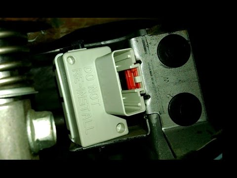 Brake light switch replacement Dodge Dakota Install Remove Replace How to