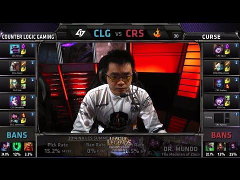 CLG vs Curse   S4 NA LCS Summer split 2014 Week 10 Day 1   CLG vs CRS W10D1 G4 Full Game HD