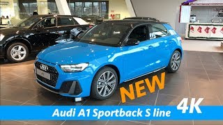 New Audi A1 Sportback S line 2019 - FIRST quick look in 4K (interior - exterior details)