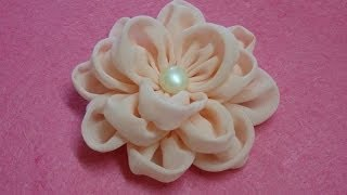 DIY chiffon flower,How to,Tutorial,fabric flower,easy