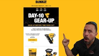 DeWalt Tool Deals - Dewalt Gear Up Event Day 10 (December 2018)