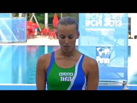 Cagnotto Dallapè - Argento nei 3m sincro ai Mondiali di Barcellona 2013