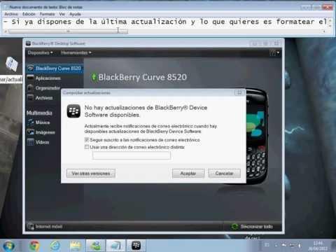 Formatear y Actualizar un BlackBerry Muy facil y Bien explicado