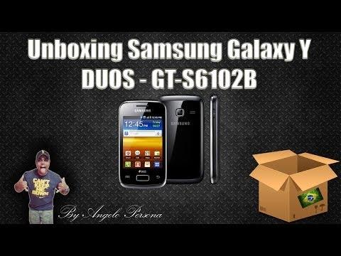 Unboxing Samsung Galaxy Y DUOS - GT-S6102B