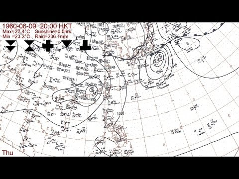 The 1960 typhoon season with Hong Kong daily weather summaries