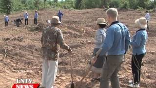 Lao NEWS on LNTV: The govt plans to  accelerate reforestation goal of 16.6 mil hec by 2020.11/6/2015